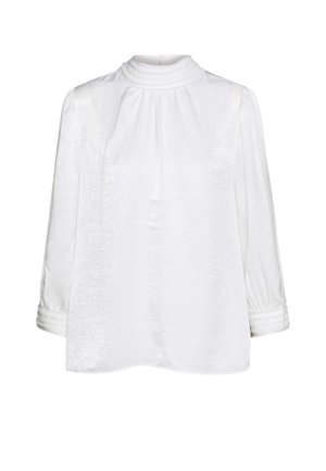 BLOUSE HIGH COLLAR - Blouse - off white