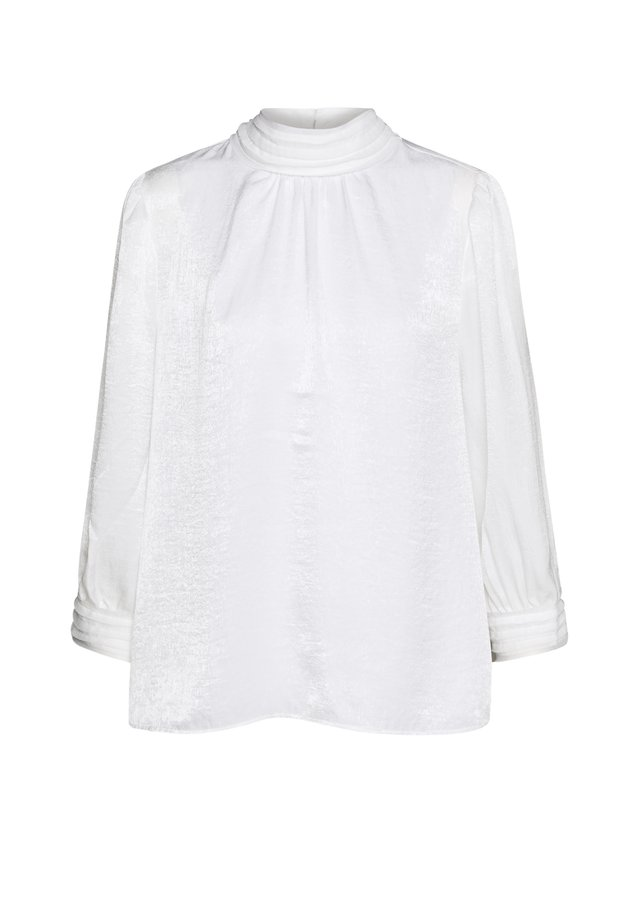 BLOUSE HIGH COLLAR - Bluser - off white