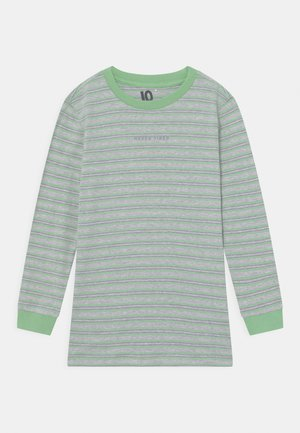 FREE BOYS LONG SLEEVE - Langærmede T-shirts - light grey/spearmint