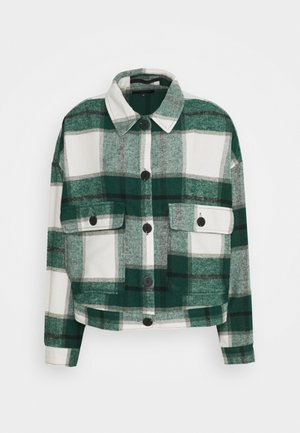 SLFGIA OVERSHIRT  - Veste légère - hunter green/white/black