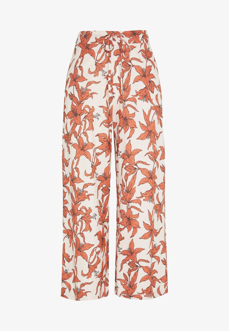 Gina Tricot - JANIKE CULOTTE TROUSERS - Bukse - off-white/red