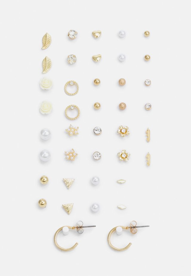 PCQISYA EARSTUDS 20 PACK - Boucles d'oreilles - gold-coloured
