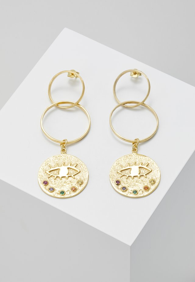 KRESSIDA INFINITY EARRINGS - Øreringe - gold-coloured/multicolored