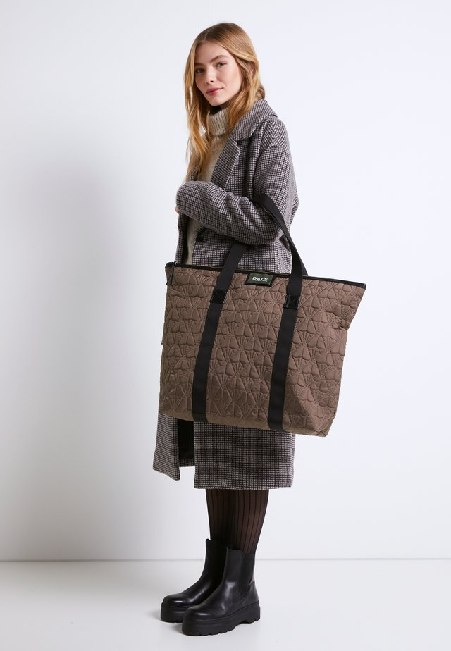 GWENETH DECOR BAG - Shopping bag - chocolate chip