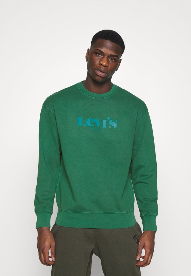 PRIDE RELAXED GRAPHIC CREW UNISEX - Mikina - greens