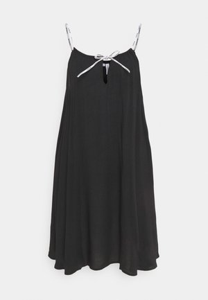 LOGO TIES DRESS - Nightie - black