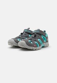 TrollKids - KIDS KRISTIANSAND UNISEX - Walking sandals - grey/mint - 1