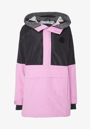 LAROSA ANORAK - Snowboard jacket - true black/orchid