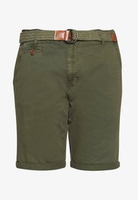 INDICODE JEANS - CONER - Shorts - army - 4