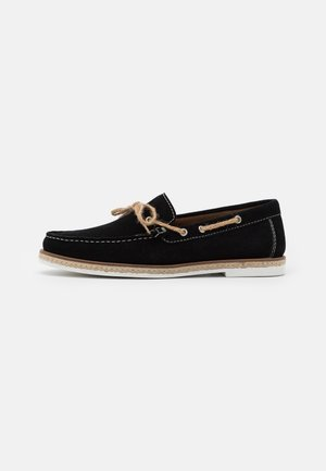 BAHAMA LACE LOAFER - Slip-ons - black