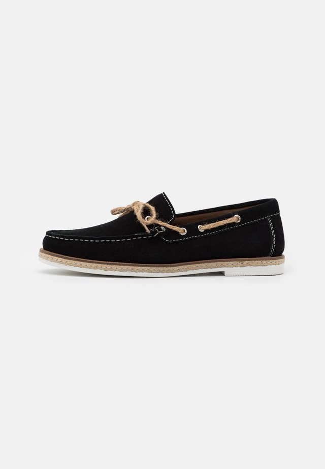 BAHAMA LACE LOAFER - Slippers - black