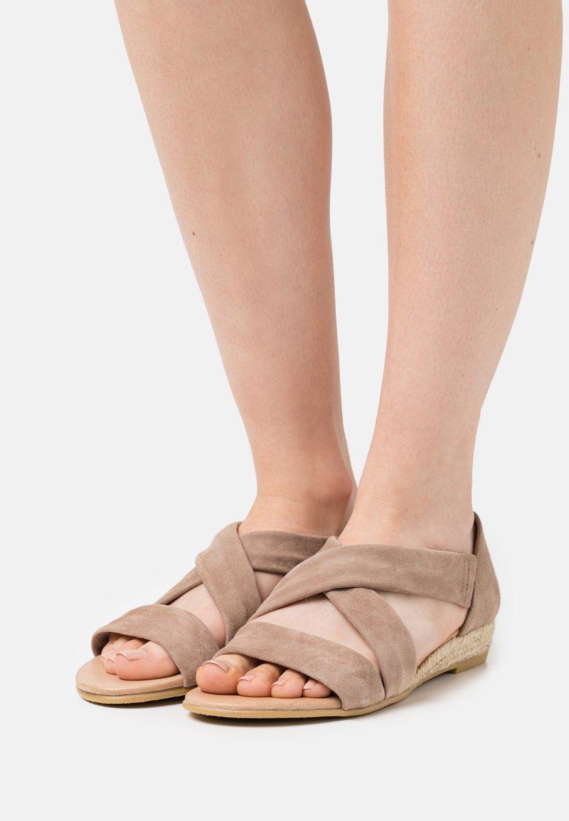 Office - HALLIE - Wedge sandals - camel
