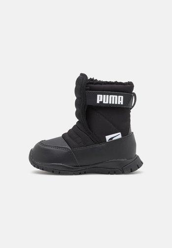 NIEVE BOOT WTR UNISEX - Winter boots - black/white