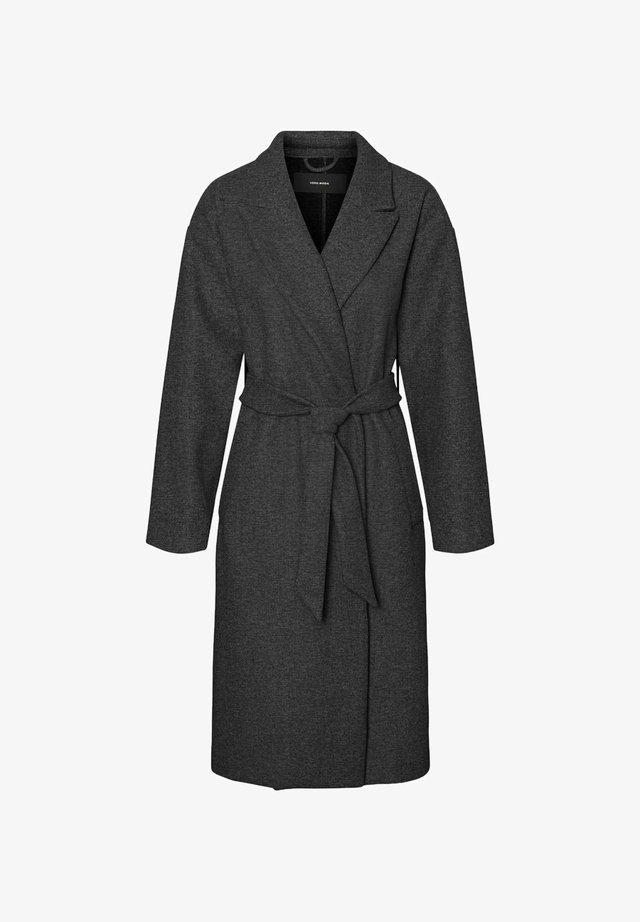 Classic coat - dark grey melange