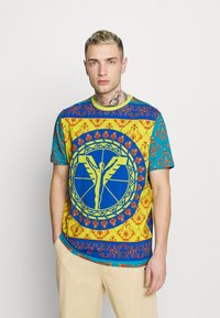Carlo Colucci - COLOURS UNISEX - Print T-shirt - petrol - 0