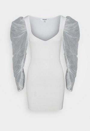 COSTELLO SLEEVE MINI DRESS - Denní šaty - cream