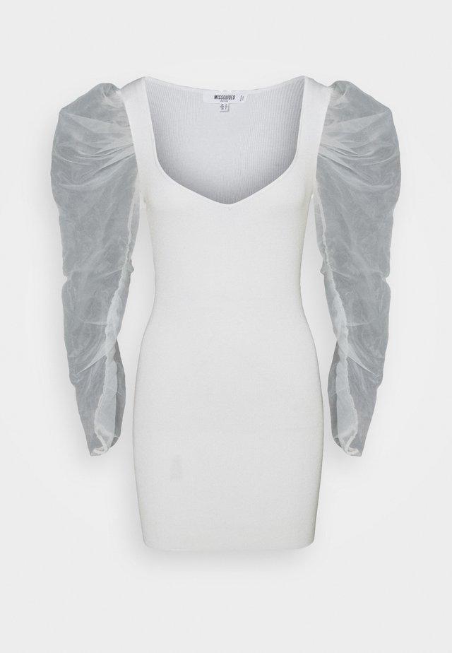 COSTELLO SLEEVE MINI DRESS - Robe d'été - cream