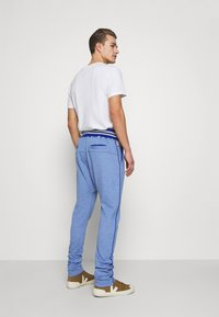 Schott - PAUL - Tracksuit bottoms - heather blue - 2
