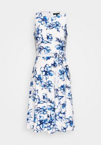 Lauren Ralph Lauren Petite - FELIA - Vestito estivo - cream/blue/multi - 0