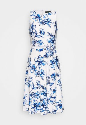 FELIA - Day dress - cream/blue/multi