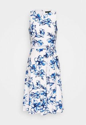 FELIA - Vestido informal - cream/blue/multi