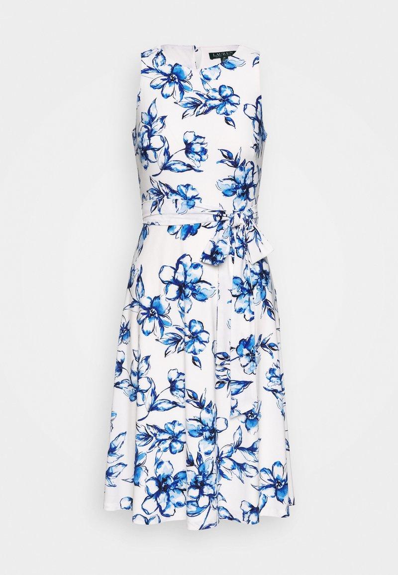 Lauren Ralph Lauren Petite - FELIA - Vestito estivo - cream/blue/multi