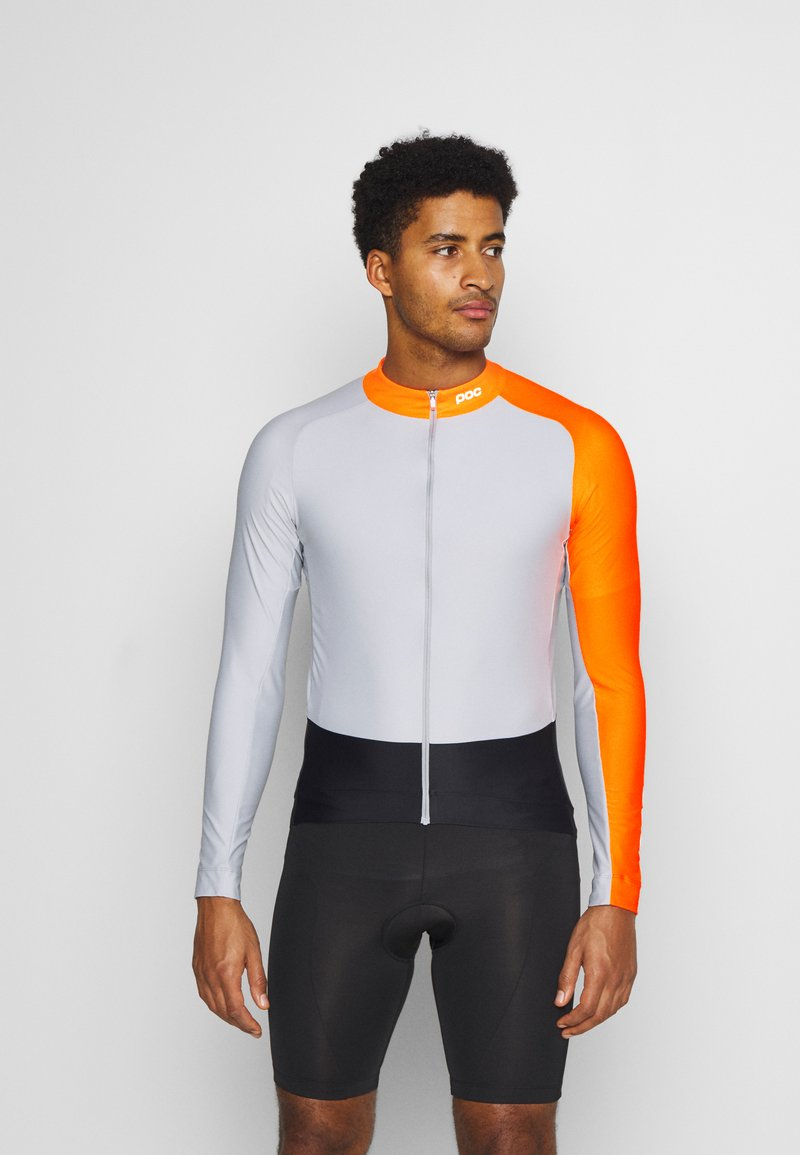 POC - ESSENTIAL ROAD  - Long sleeved top - granite grey/zink orange