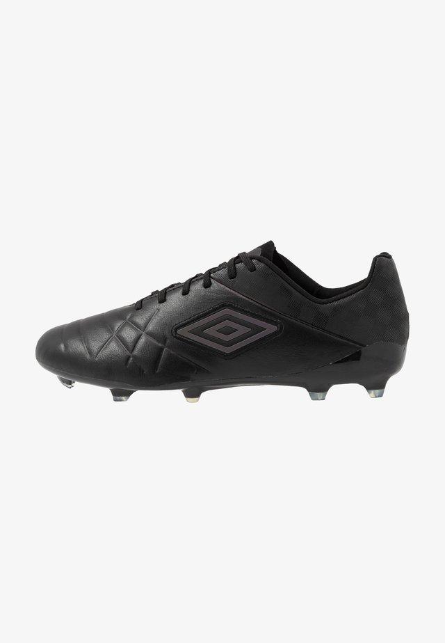 MEDUSÆ III PRO FG - Moulded stud football boots - black/black reflective