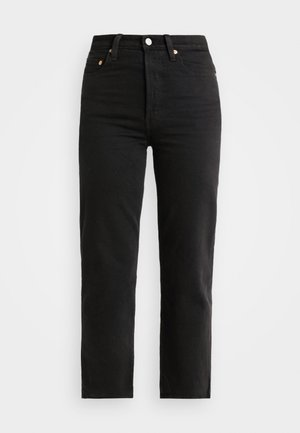 RIBCAGE STRAIGHT ANKLE - Straight leg jeans - black heart