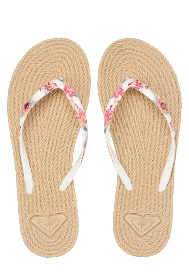 ROXY™ SOUTH BEACH - SANDALEN FÜR FRAUEN ARJL100685 - Teenslippers - white ginger