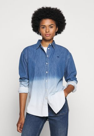 ULTRA - Button-down blouse - dipped indigo wash