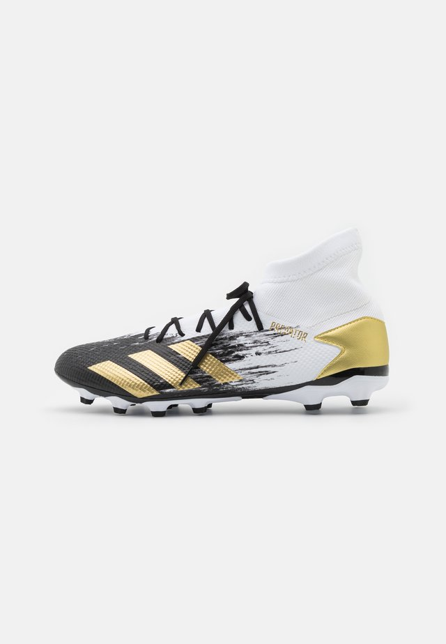 PREDATOR 20.3 FOOTBALL BOOTS MULTI GROUND - Moulded stud football boots - footwear white/gold metallic/core black