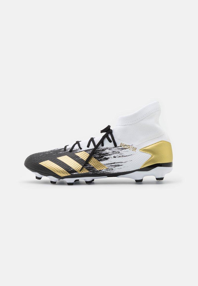 adidas Performance - PREDATOR 20.3 FOOTBALL BOOTS MULTI GROUND - Moulded stud football boots - footwear white/gold metallic/core black