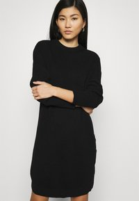 Marc O'Polo DENIM - DRESS WITH LONG SLEEVE AND BUTTON PLACKET ON SIDE SEAM - Jumper dress - black - 3
