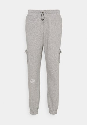 PANT - Verryttelyhousut - grey heather/white
