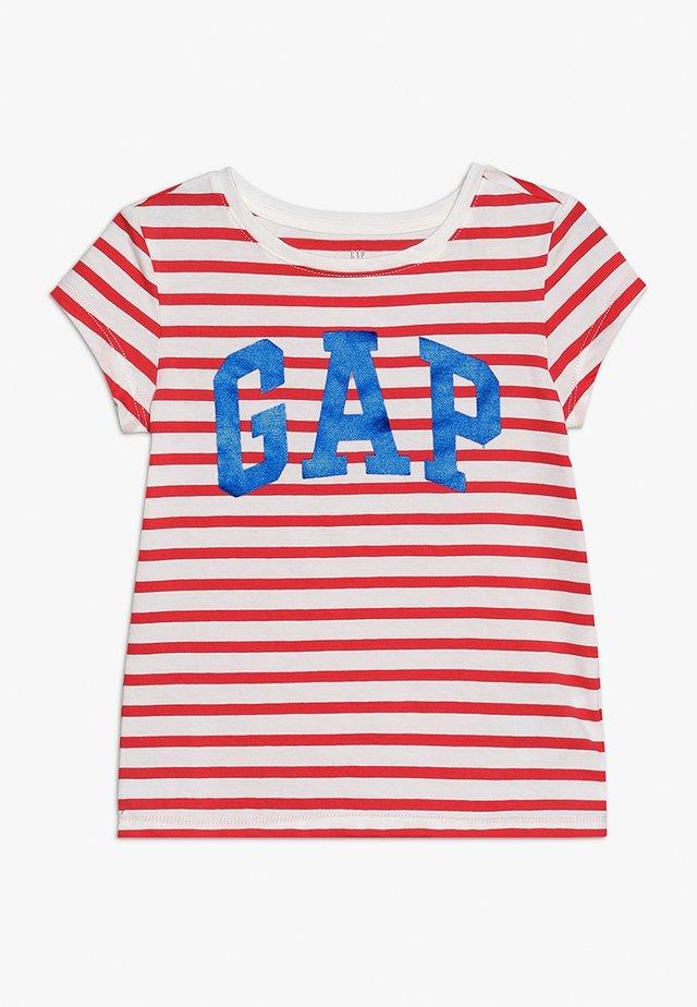 GIRLS LOGO - T-shirt con stampa - red tulip