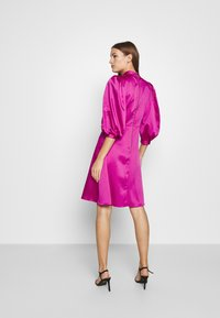 Closet - CLOSET HIGH NECK PUFF SLEEVE MINI DRESS - Day dress - pink - 2