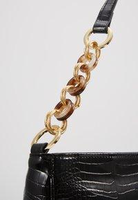 Topshop - SPIN SNAKE SHOULDER - Handbag - black - 6