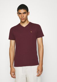 Abercrombie & Fitch - ICON 3 PACK - Basic T-shirt - burgundy/blue/green - 1