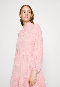 Closet - HIGH COLLAR MINI DRESS - Day dress - blush - 4