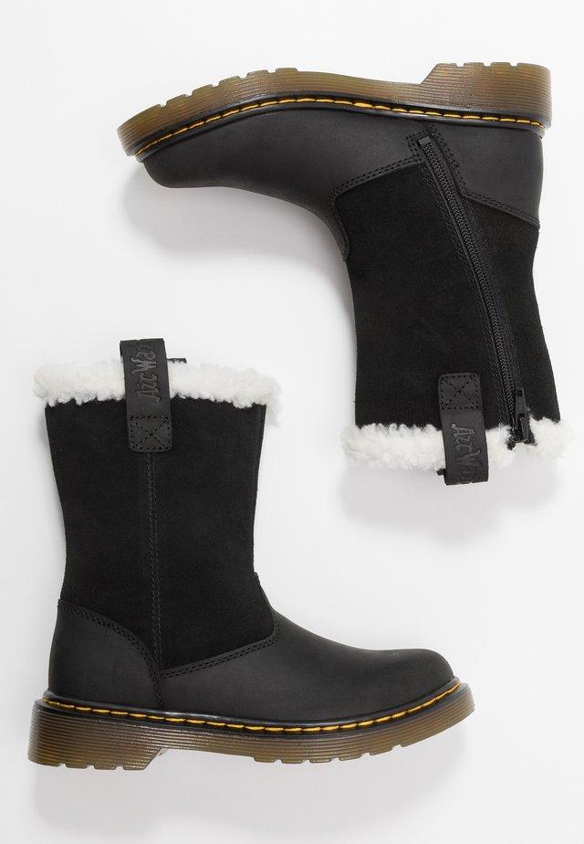 JUNEY JUNIOR - Snowboots  - black