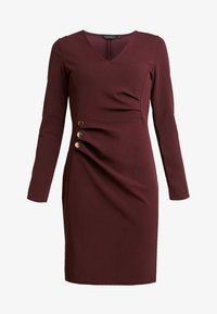 Dorothy Perkins - BUTTON DETAIL BODYCON - Etuikleid - oxblood - 3