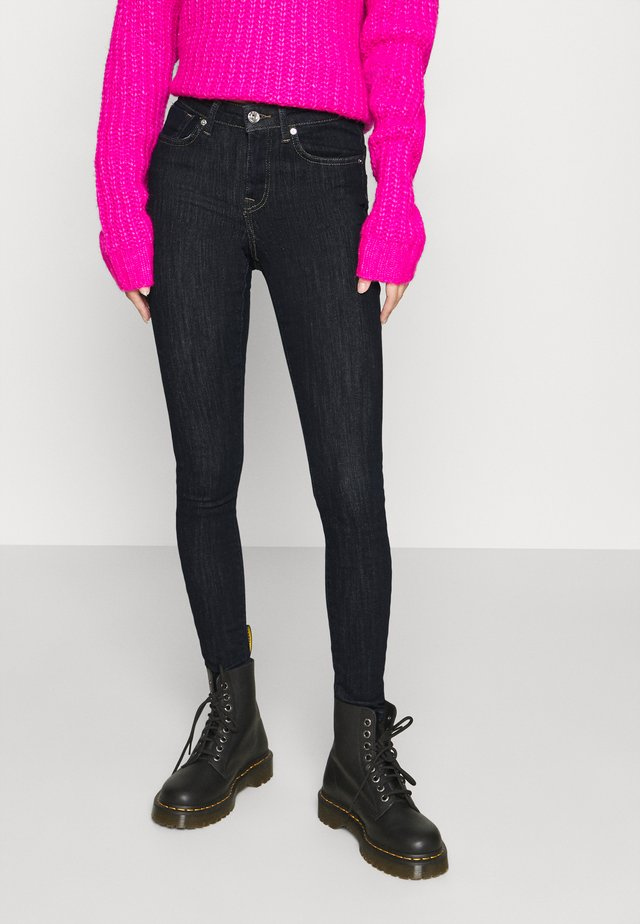 ONLPOWER MID PUSH UP - Jeans Slim Fit - dark blue denim