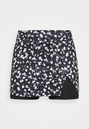 SKIRT - Sports skirt - black/white