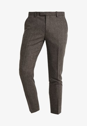MOONLIGHT TROUSERS - Suit trousers - brown