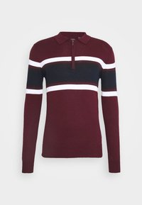 WEBSTER - Svetr - deep maroon/vintage white/french navy