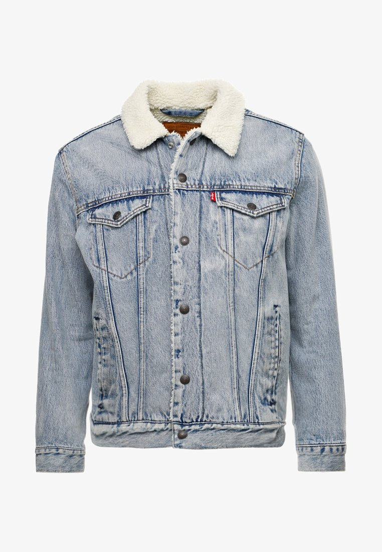 Levi's® TYPE 3 SHERPA TRUCKER - Jeansjacke - stonebridge/light-blue denim CnMZL4