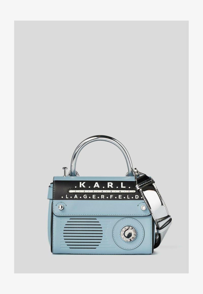 KARL LAGERFELD - RADIO MINI  - Handbag - light blue/silver