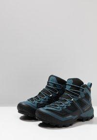 Mammut - DUCAN MID GTX - Hiking shoes - black/light poseidon - 2
