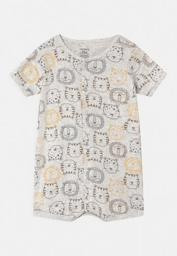 LION - Jumpsuit - mottled grey/yellow